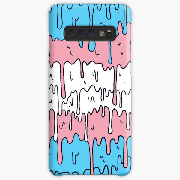 Pastel Kawaii Melting Trans Pride LGBTQ Design Samsung Galaxy Snap Case