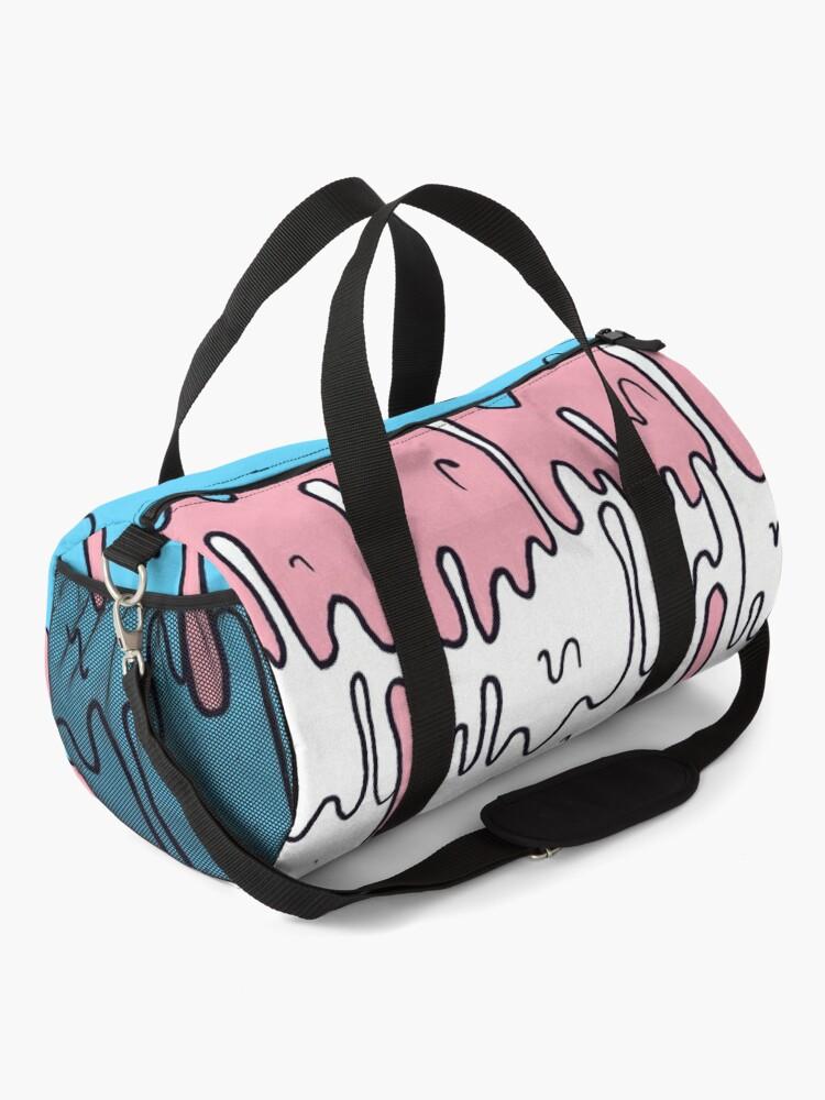 Alternate view of Pastel Kawaii Melting Trans Pride LGBTQ Design Duffle Bag