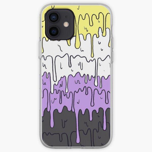 Cute Pride Pastel Melting Pride Design, Non Binary flag  iPhone Soft Case