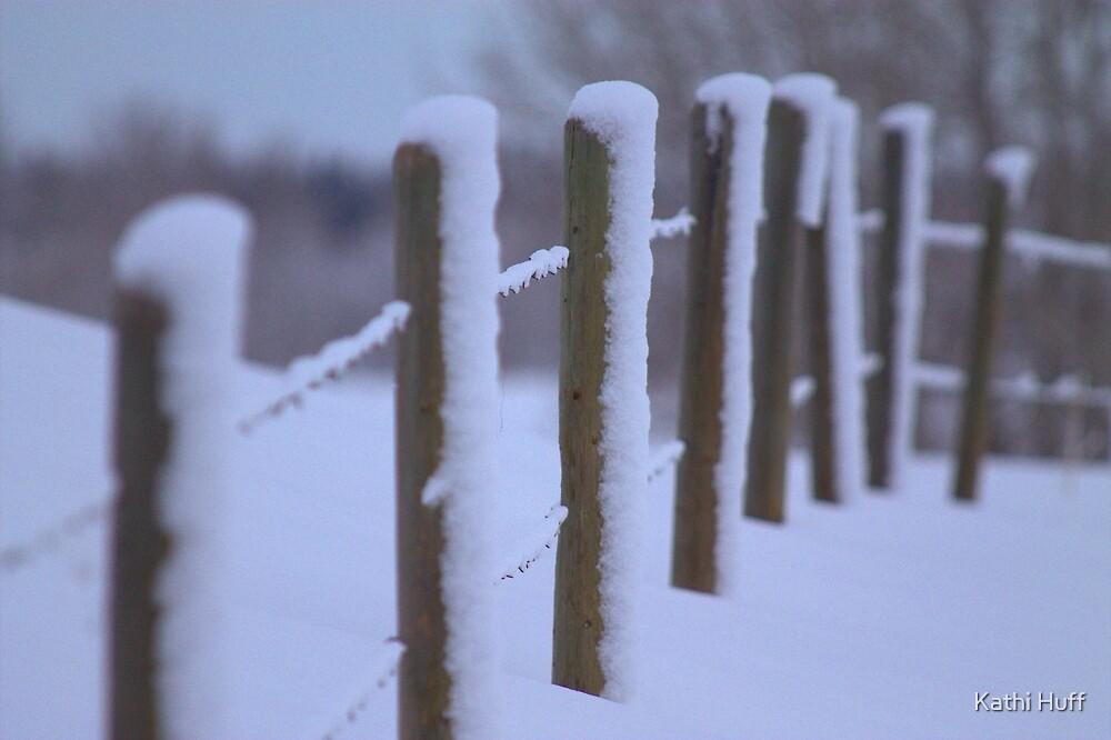 Snowy Fenceline by Kathi Huff