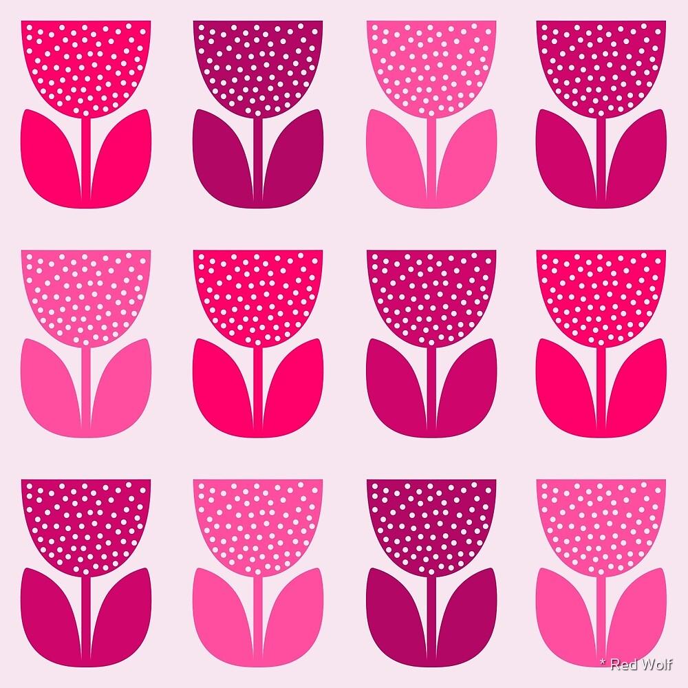 Geometric Pattern: Poppy: Light Pink by * Red Wolf