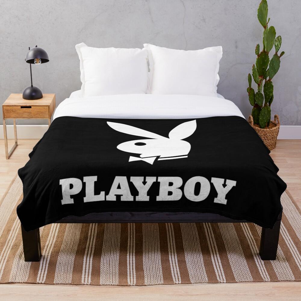 Playboy Bunny White Throw Blanket