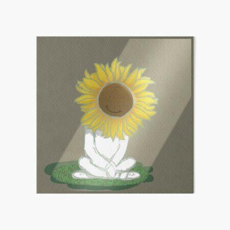 I'm Okay Sunflower Art Board Print