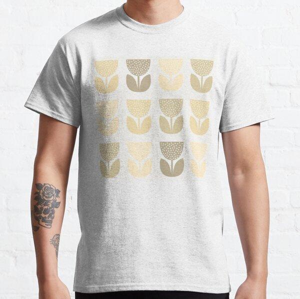 Geometric Pattern: Poppy: Light Brown Classic T-Shirt