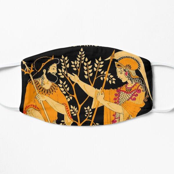 POSEIDON and ATHENA : Vintage Greek God and Goddess Print Mask