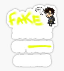 Fake suicide of genius. Sticker