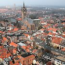 Delft - A View From The Nieuwe Kerk by rsangsterkelly