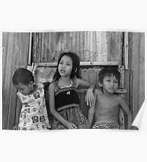 Village Children Cambodia Poster