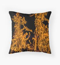 Wild and Angry Symmetry Throw Pillow
