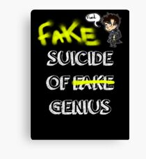 Fake suicide of genius. Canvas Print