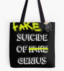 Fake suicide of genius. Tote Bag