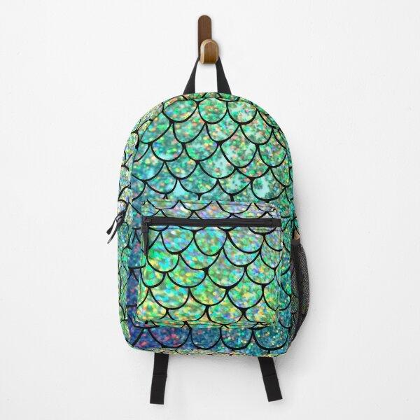 Colorful Glitter Mermaid Scales Backpack