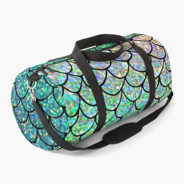 Colorful Glitter Mermaid Scales Duffle Bag