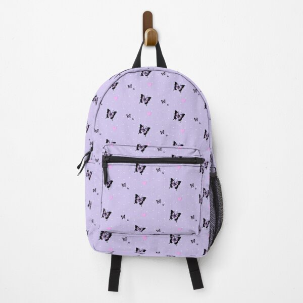 soft grunge pastel lavender butterfly dot print Backpack