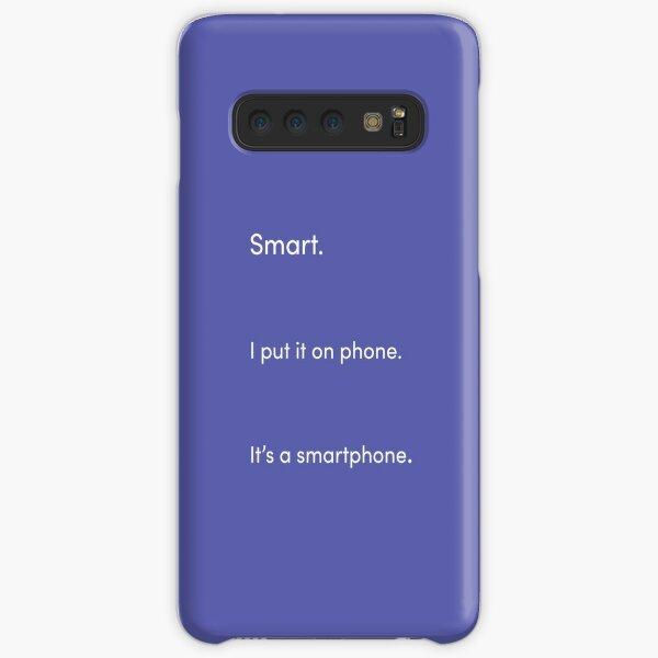 TikTok Smartphone Pun White and Purple Samsung Galaxy Snap Case