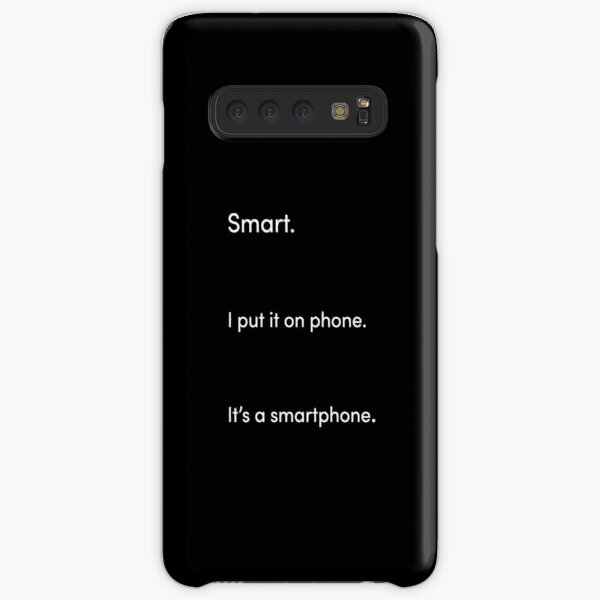 TikTok Smartphone Pun White and Black Samsung Galaxy Snap Case