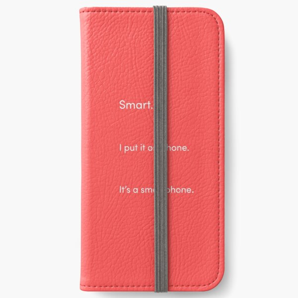 TikTok Smartphone Pun White and Red iPhone Wallet