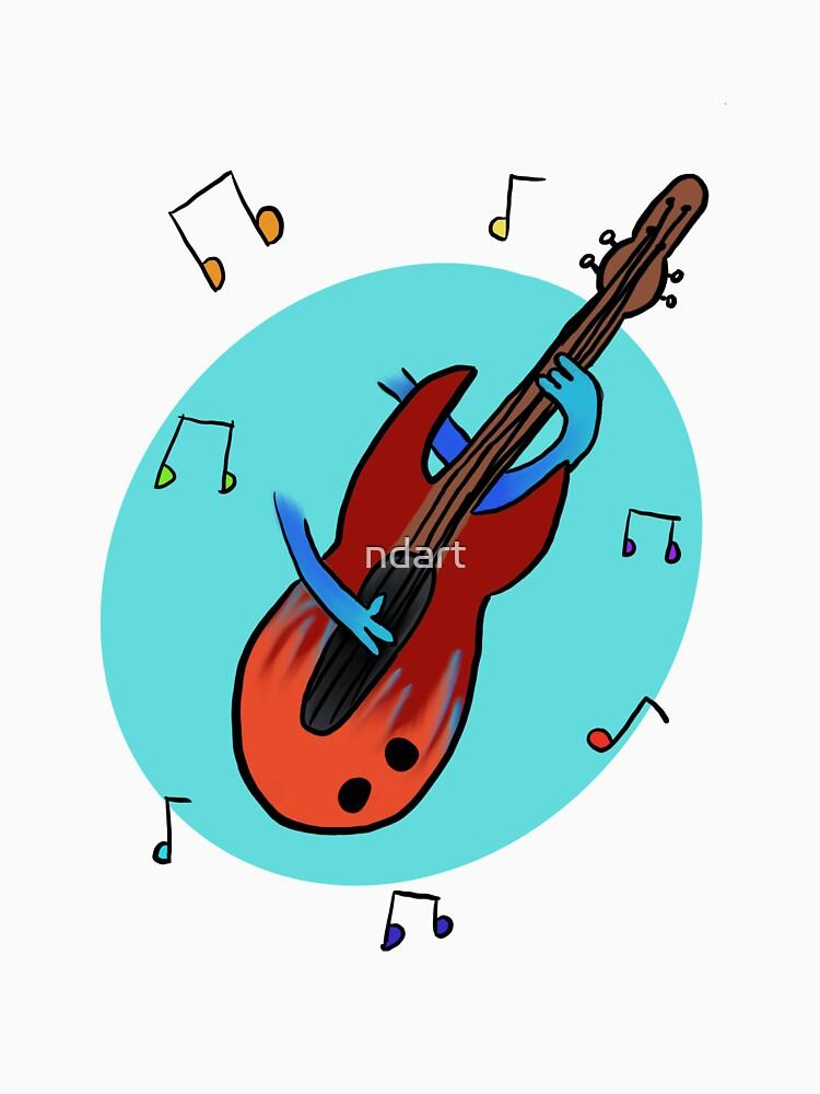 Bass Guitar Player by ndart