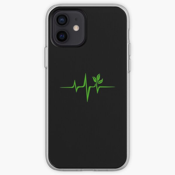 Heartbeat, Pulse Green, Vegan, Frequency, Wave, Earth, Planet iPhone Soft Case