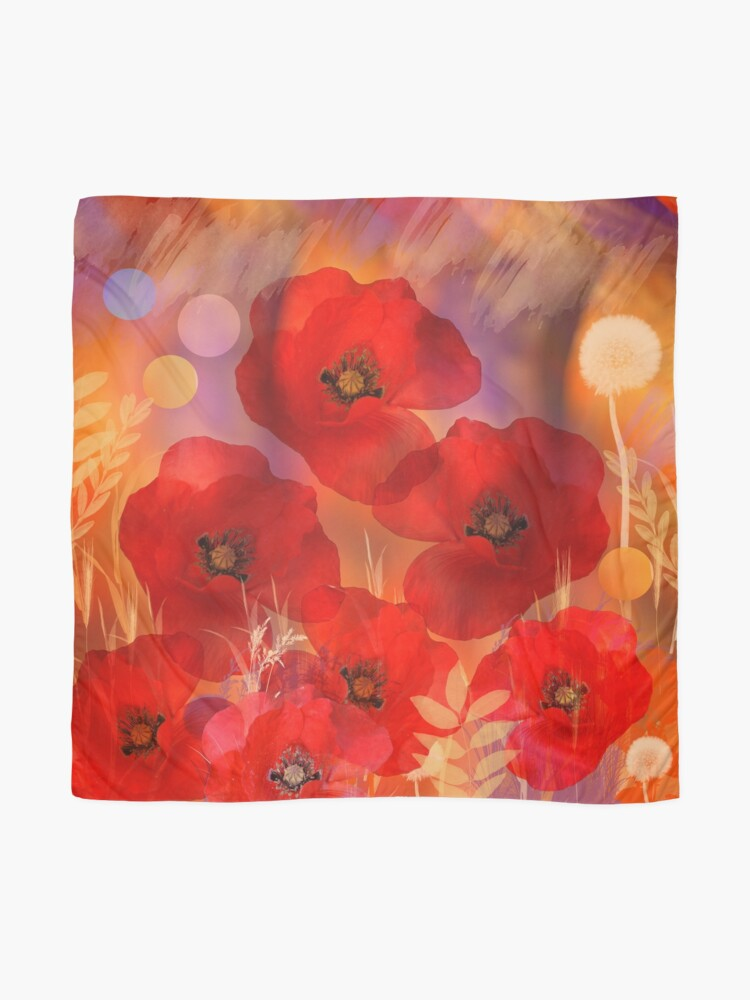 Alternate view of Hot summer poppies Scarf