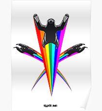 Sloth Rainbow Poster