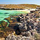 Bus at Salmon Bay - Rottnest by John Pitman