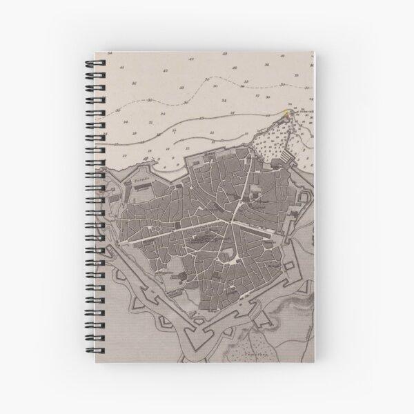 Vintage Heraklion Crete Greece Map (1897) Spiral Notebook