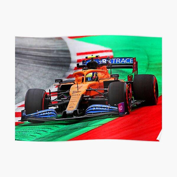 Lando Norris racing during the 2020 Austrian Grand Prix Poster