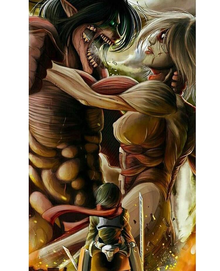 eren titan x annie titan Angriff auf Titan - Eren und Annie  iPad-Hülle & Skin