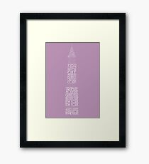 'Wordy Structures' Chrysler Building Purple Framed Print