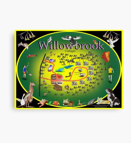 Willowbrook Cottages Canvas Print