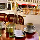Breakfast for two in Paris by Elana Bailey