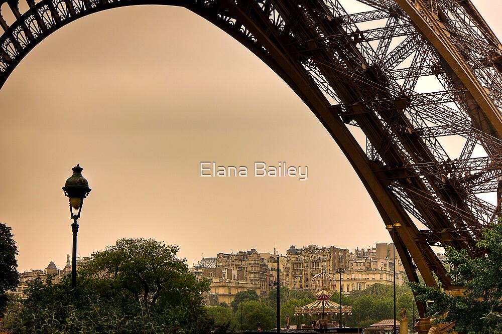 Under the Eiffel Tower in Paris by Elana Bailey