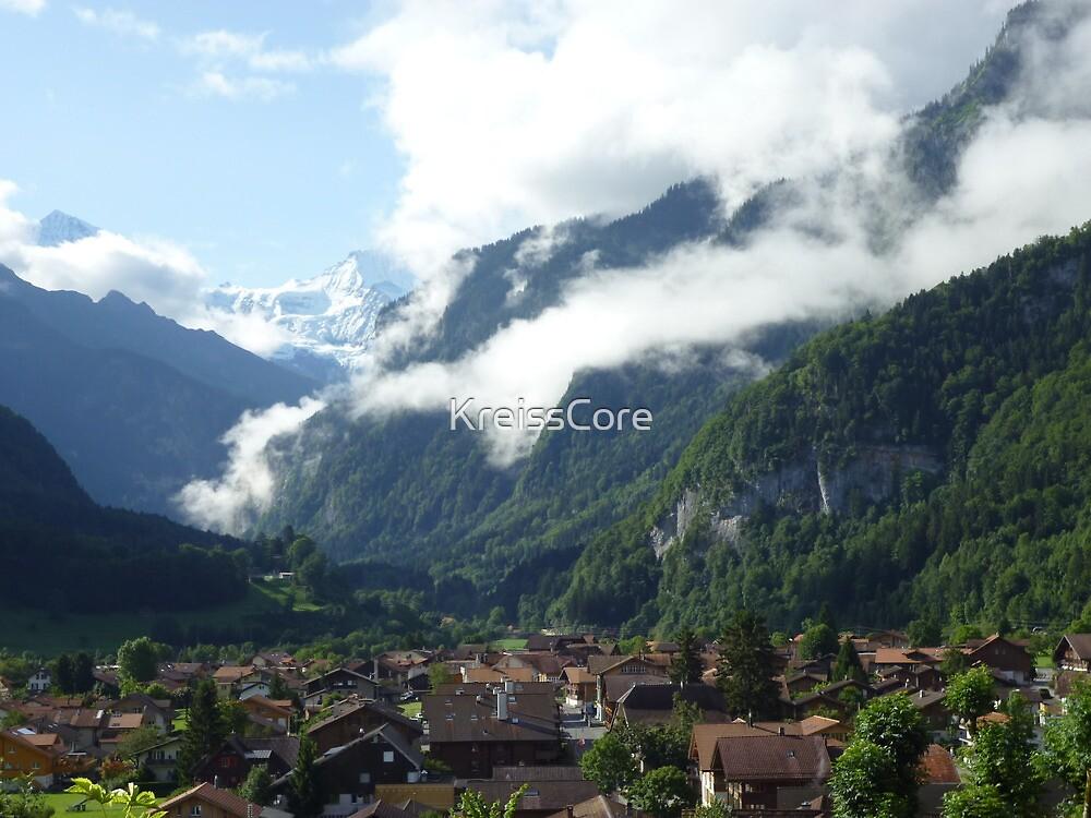Cloudy Alp Village by KreissCore