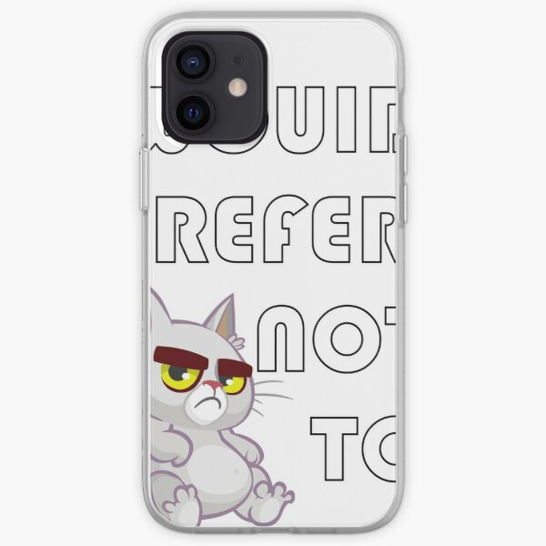 I Would Prefer Not To iPhone Soft Case