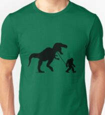 Gone Squatchin with T-rex Unisex T-Shirt