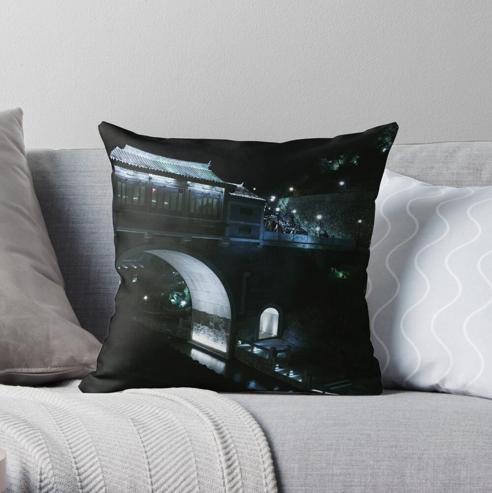 Simatai (司马台) Great Wall of China at night. Throw Pillow