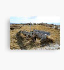 Old Covered Wagon,Black Rock Desert,near Gerlach,Nevada USA Canvas Print