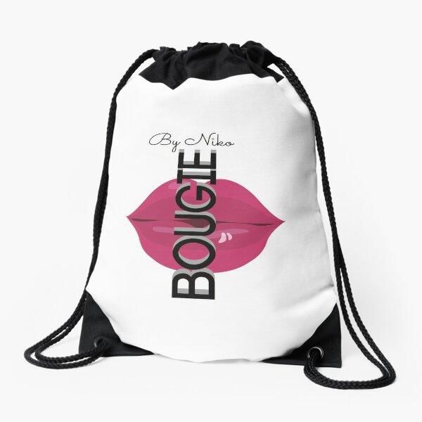 Bougie by Niko White Drawstring Bag