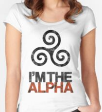 I'M THE ALPHA Women's Fitted Scoop T-Shirt