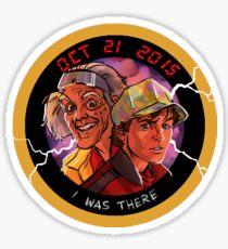 Back To The Future - 2015! Sticker