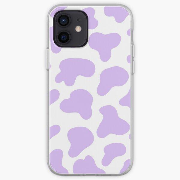 Impresión de vaca púrpura pastel Funda blanda para iPhone