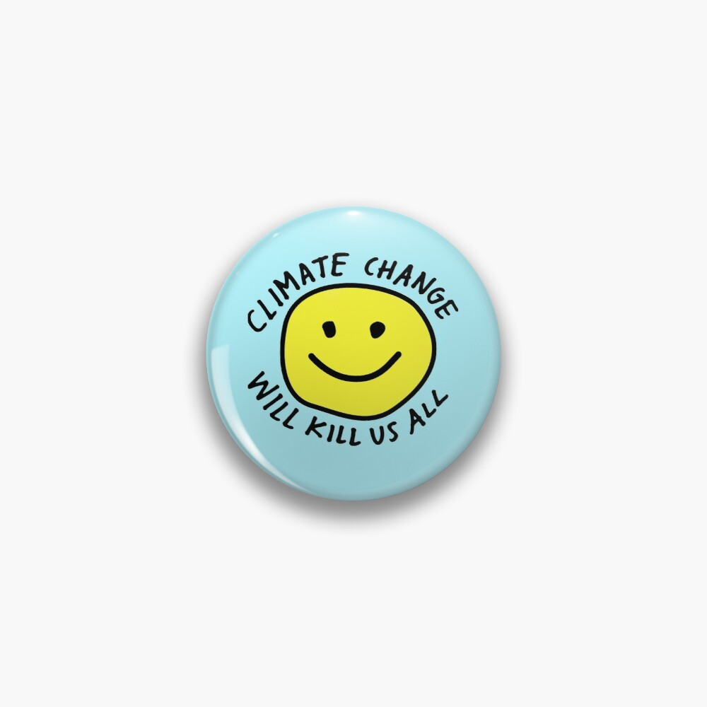 Stop Climate Change Pin