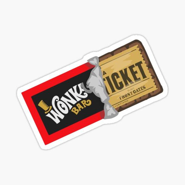 Wonka goldenes Ticket Sticker