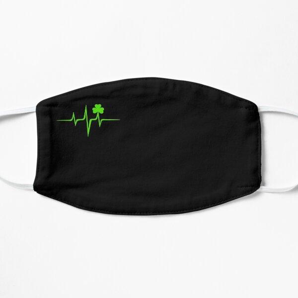 Music Pulse Irish, Frequency, Wave, Heartbeat, Shamrock Mask