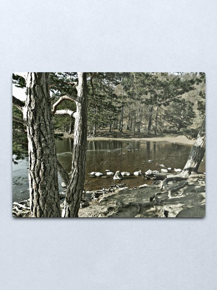 Alternate view of Loch an Eillen Aviemore Metal Print