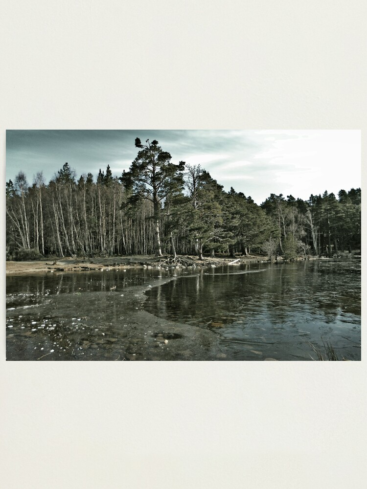 Alternate view of Frozen Loch an Eillen Aviemore Photographic Print