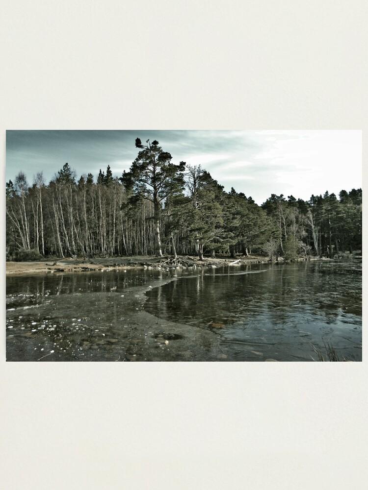 Alternate view of Frozen Loch an Eillen Aviemore Photographic Print
