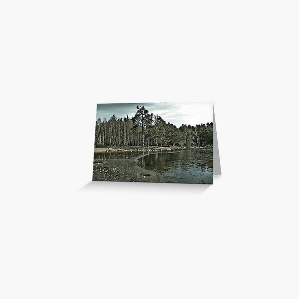 Frozen Loch an Eillen Aviemore Greeting Card