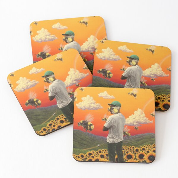 bee boy flower Poster Coasters (Set of 4)